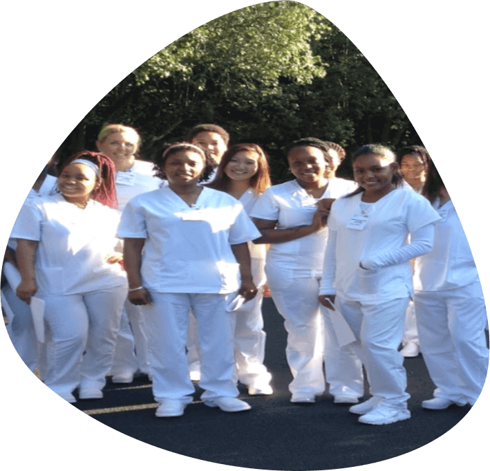 group of nurses in white uniform